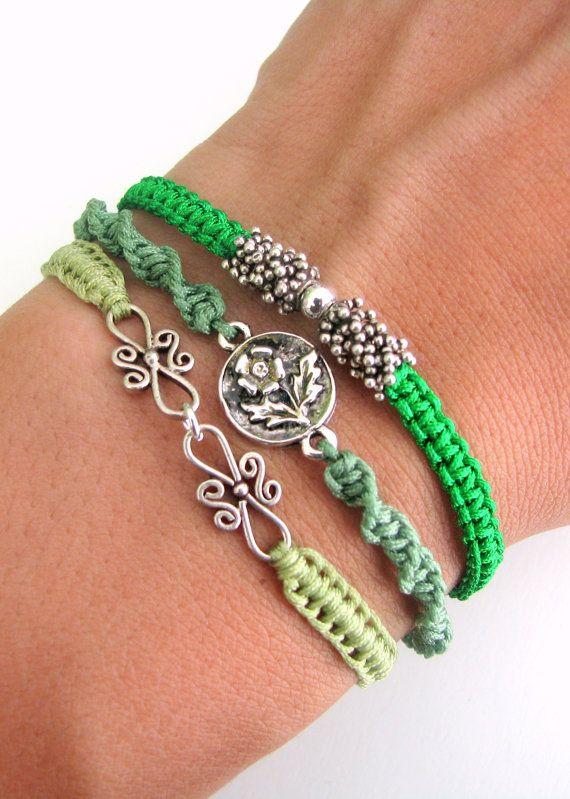 Bohemian Bracelet Stack with Silver Vermeil Beads by MaisJewelry, $55.00 (a litt...