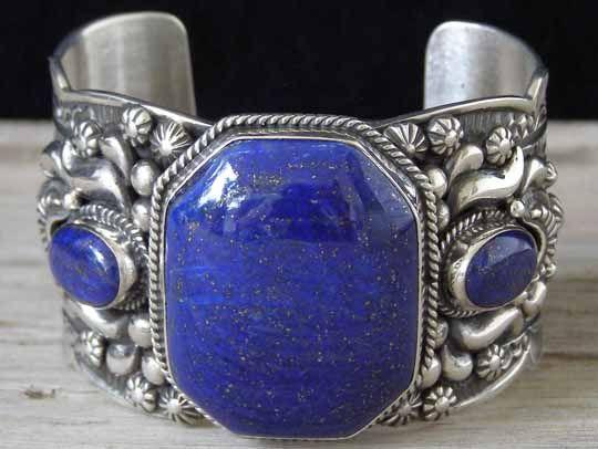 Darryl Becenti Lapis Lazuli Bracelet... at Chacodog.com