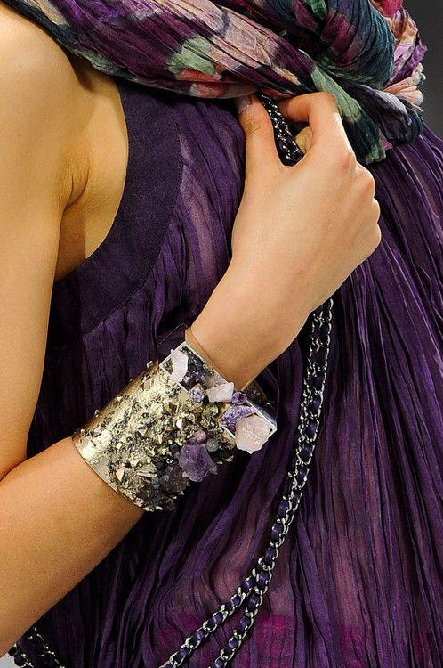 Jewel tones everywhere! Chanel Fall 2012