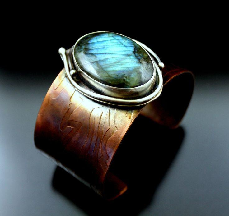 Labradorite, Sterling, Copper