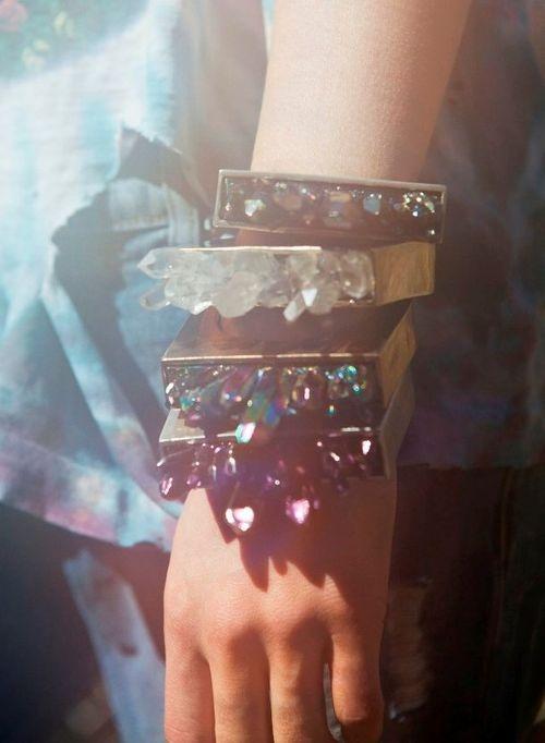 Pamela Love Crystal cuffs