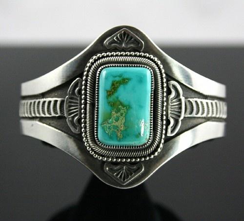 Sammie Kescoli Begay ~ Royston Turquoise Ingot Bracelet