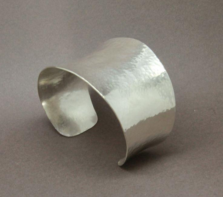 Wide anticlastic silver cuff  www.jonathandeer....