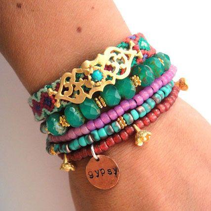 armband multi gold boho bracelet | Mirazo - Shop voor Ibiza sieraden, Bohemian f...