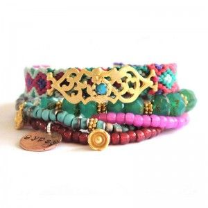 ooak armband multi gold