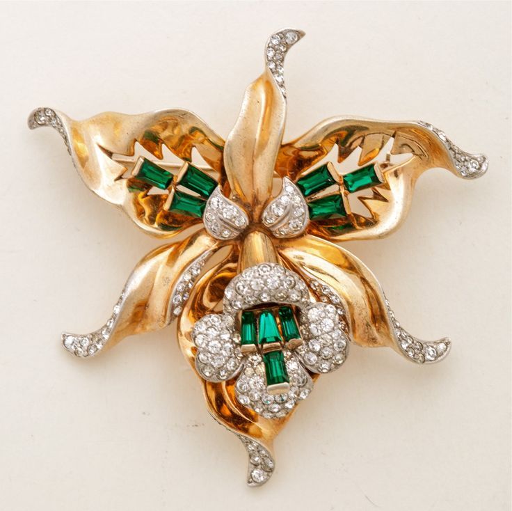 A Stunning 1940's Retro Brooch by Mazer at 1stdibs