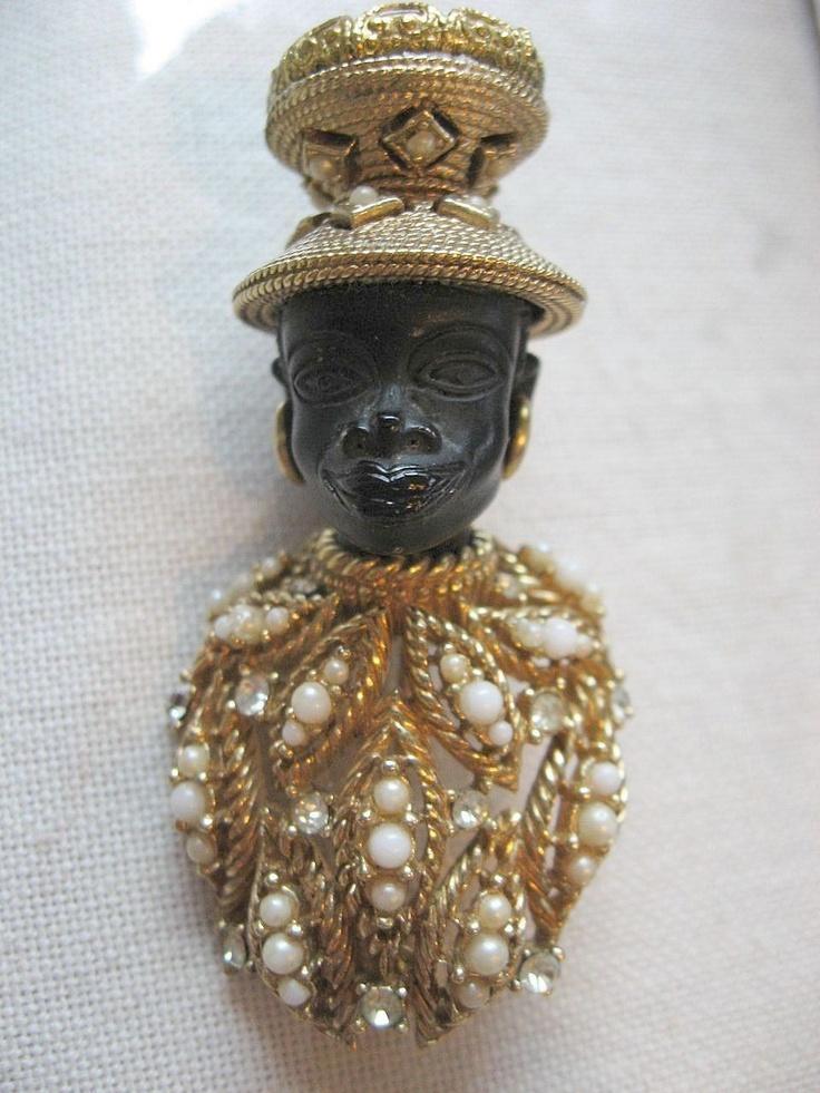 Spectacular- Vintage -signed Ciner- Blackamoor prince-pin-599$