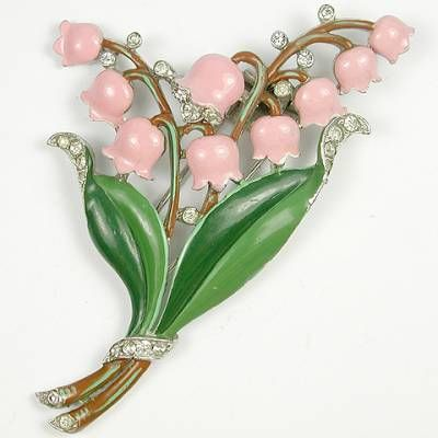 Vintage Trifari Lily of the Valley Fur Pin