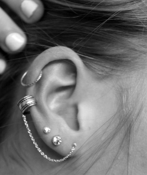Ear piercings - Popular Women's Fashion Pins on Pinterest