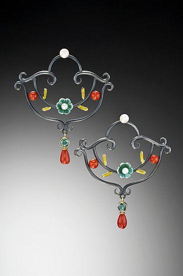 Gold & Silver Earrings Created by Giselle Kolb