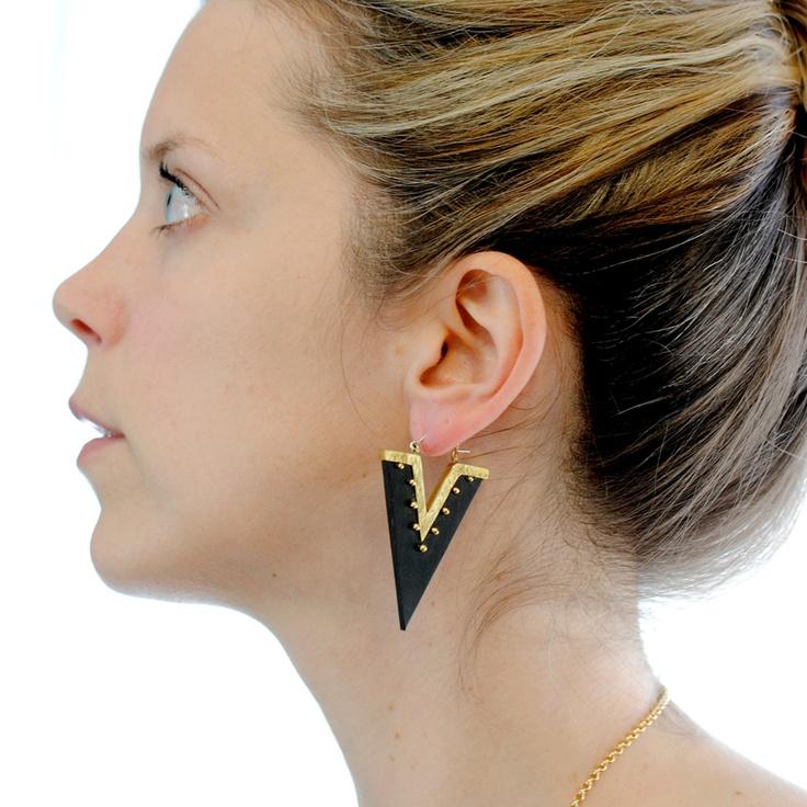 Karen London Triangle Earrings $72