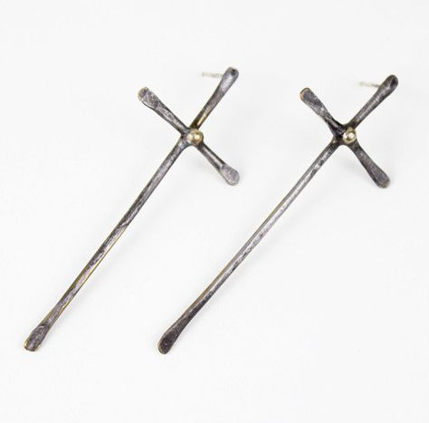 Killer Queen Cross Earrings $50