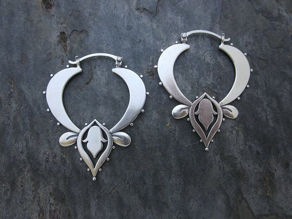 Lotus Hoops by SashaBellJewelry on Etsy, $130.00
