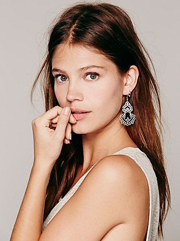 Pretty pewter Hani statement earrings from Free People.