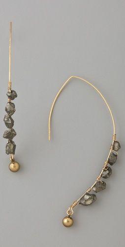 Soo Ihn Kim -   Klaus Pyrite Gemstone Earrings