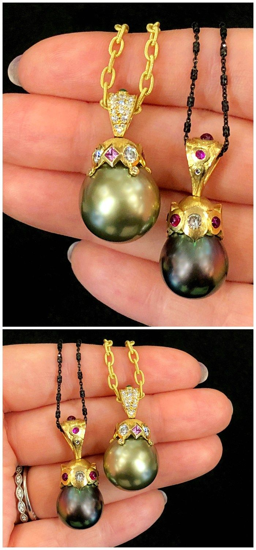 Two beautiful pearl pendants by Lisa Mele Rare Gems