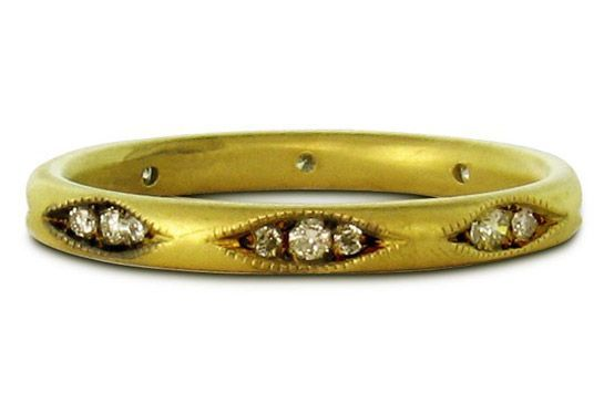 40 AWESOME Wedding Bands To Fit Your Style #refinery29 www.refinery29.co...  Tak...