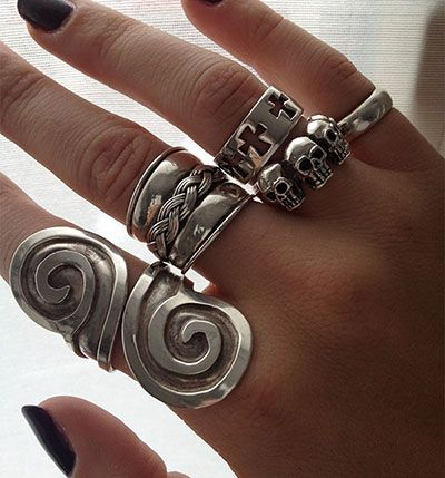 A few rings I own #rings #silver #jewellery