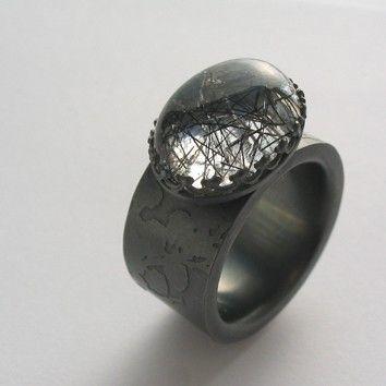 Bespoke Jewellery Edinburgh Sally Grant - textural gemstone rings