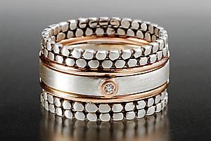 Blink Stack Rings: Linda Bernasconi: Gold, Silver, & Stone Rings   Artful Home
