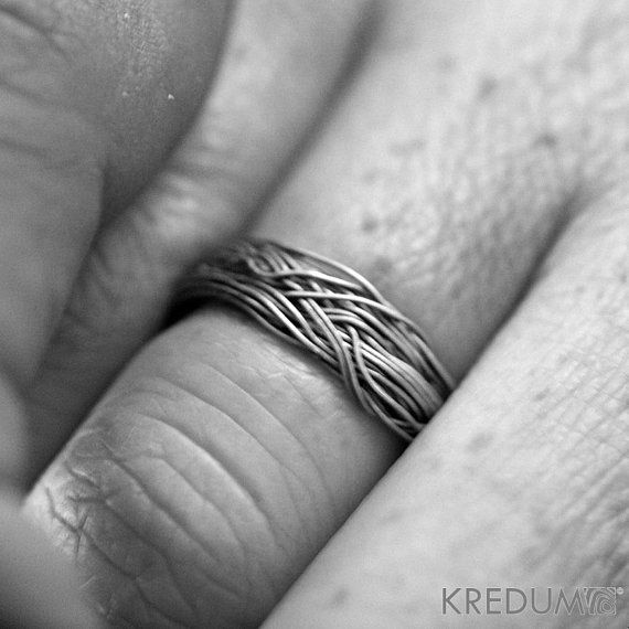 Custom Wedding Ring  Coiled Stainless steel wedding ring by KREDUM, $63.00