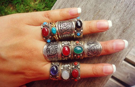 FREE Shipping Tibetan Ring. Tibetan Sterling by ZamarutJewel