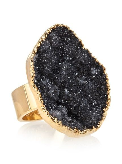 Janna Conner Black Druzy Ring by: Janna Conner