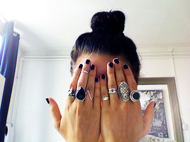 Never wearing less than 5 rings #ring #jewellery