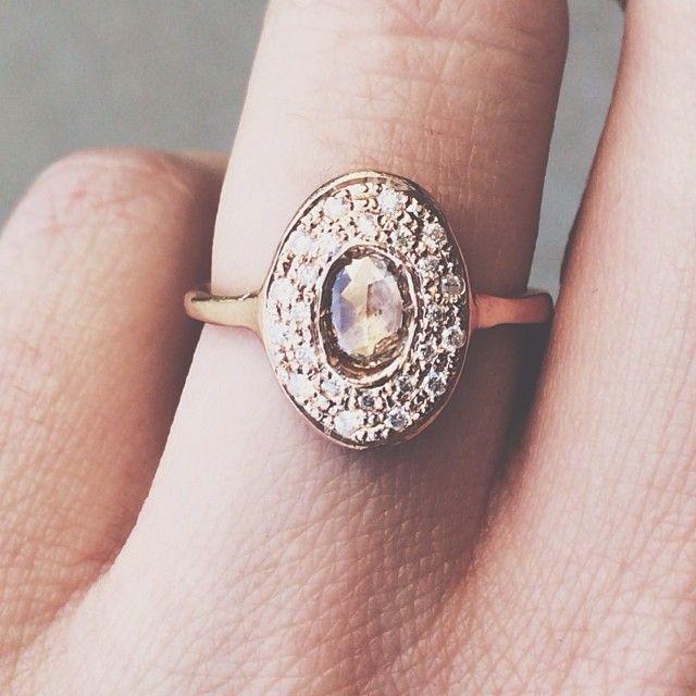 So gorgeous and unique. xx www.graceloveslac... #engagementring #weddingring #we...