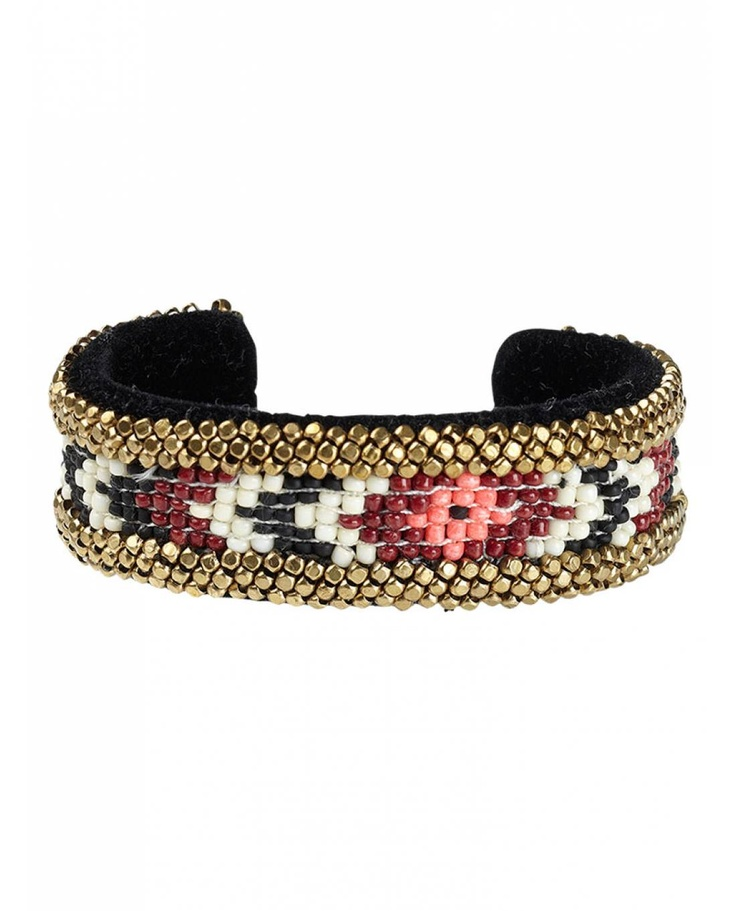 Tribal inspired cuff bracelet - Neon Surf by Maison Scotch