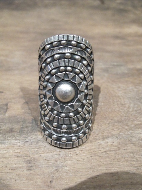 silver shield hill tribe ring