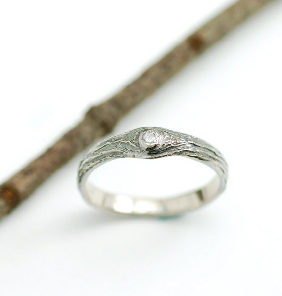tree engagement ring bark texture natural nature