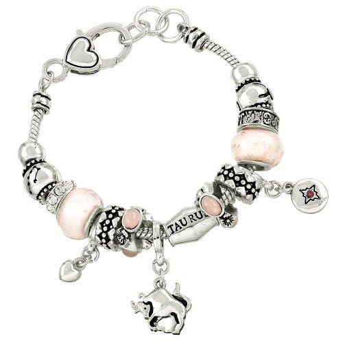 Taurus Charm Bracelet Zodiac BH Bull April 21 May 20 Silv... www.amazon.com/...
