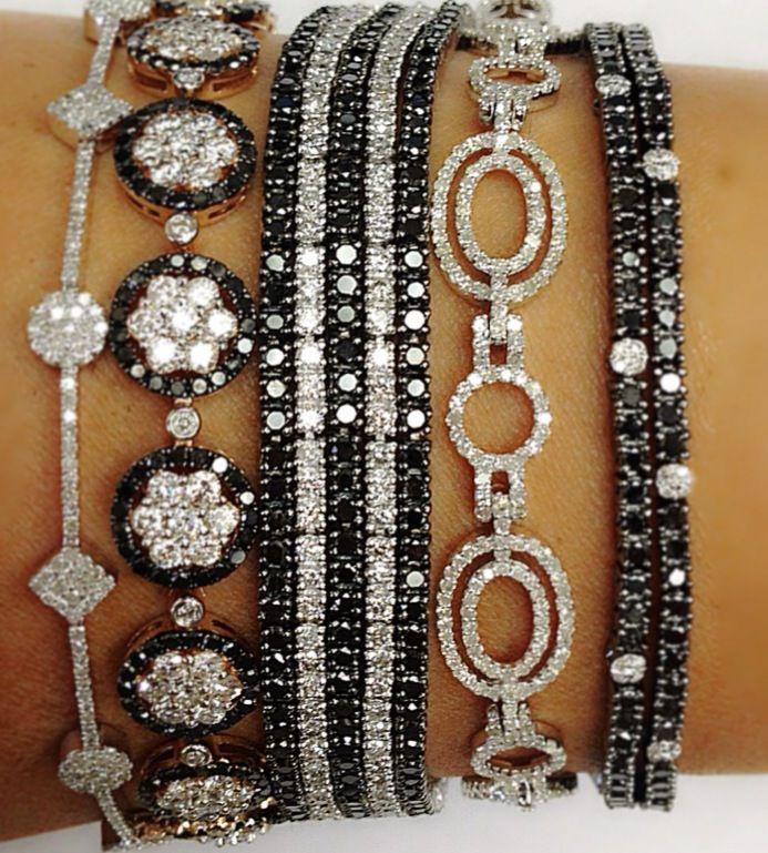 Black Diamond & White Diamond Bracelets