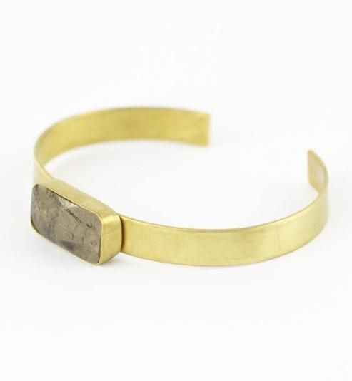Faceted Peruvian Pyrite Bangle from Mineralogy ♥