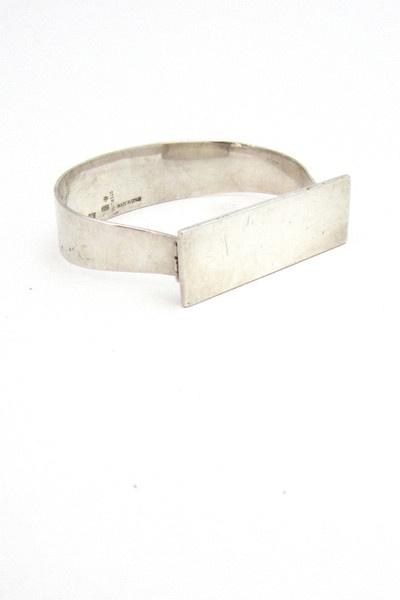 Puig Doria, Spain vintage modernist silver bracelet
