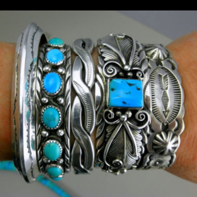 Turquoise/silver