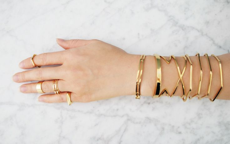 stacked rings & bracelets - M I R L O