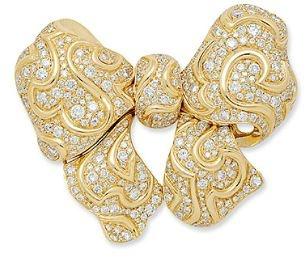 A Diamond and Gold Brooch, Marina B., Italy