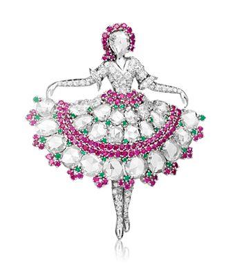 Ballerina clip, 1943, Van Cleef & Arpels' Collection. Photo courtesy of Van Cl...