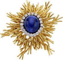 Cartier Lapis Lazuli, Diamond, Gold Brooch 18k...