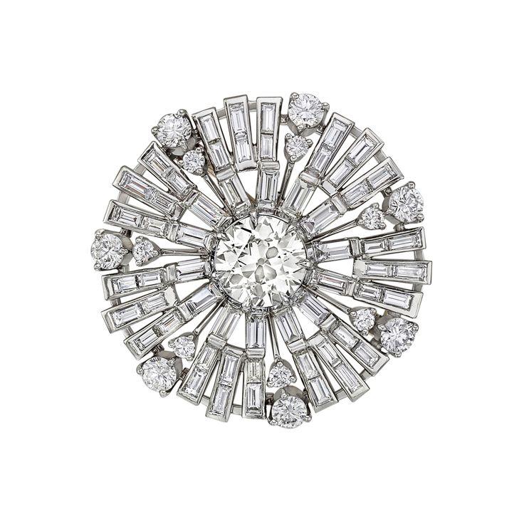 Estate Betteridge Collection Diamond 'Sunburst' Brooch