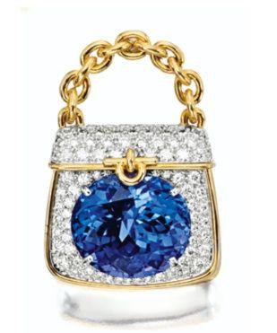Tanzanite and Diamond 'Handbag' Brooch, Tiffany & Co.
