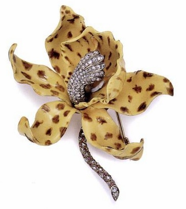c1889 Brooch  | G. Paulding Farnham for Tiffany  Co. | gold, silver, diamonds, r...