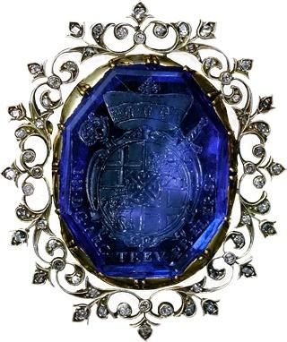 www.bkgjewelry.co... sapphire intaglio brooch. pinned with #Bazaart - www.bazaar...