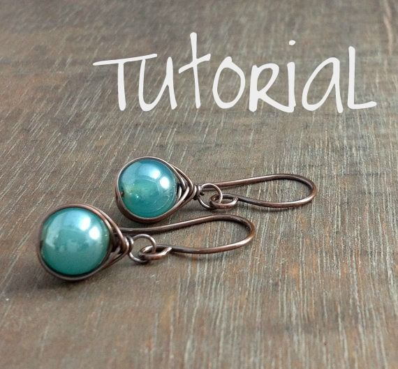 Bead drop Earring tutorial; good one!