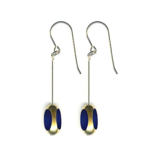 Bean Earrings Navy
