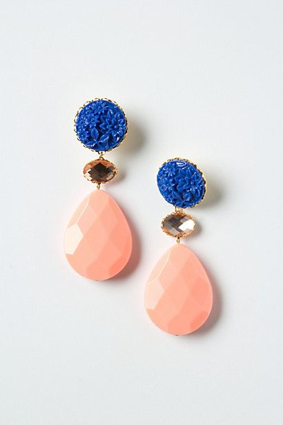 Carved Anchusa Drops  by Anthropologie