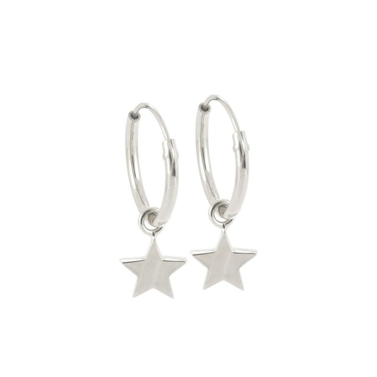 Dainty Star Hoop Earrings