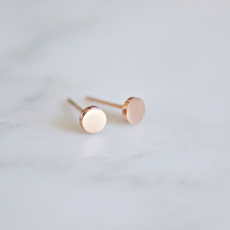 Dot stud earrings, tiny stud earring, tiny round earrings, minimalist earring, m...